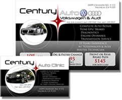 Century Auto Clinic Postcards